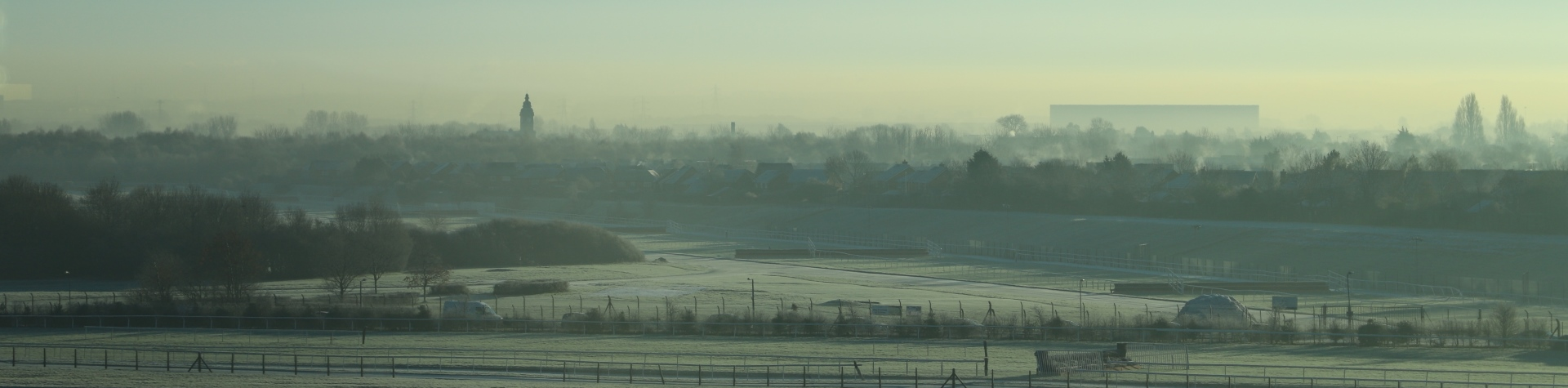 View across Aintree Racecourse