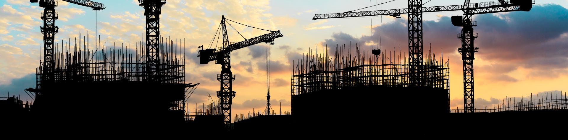 Cranes on a building site